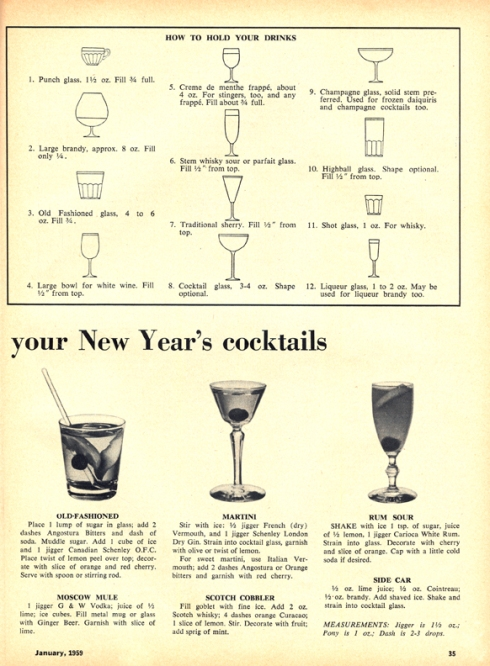 New Year's Cocktails-1959-R