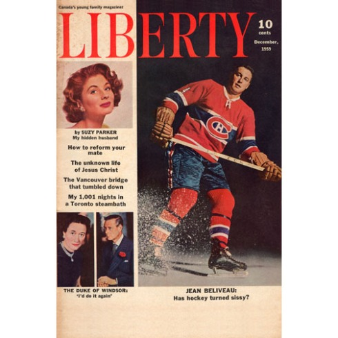 CanadianCultureThing postcard #0018 features Liberty Magazine from December 1959. The Duke of Windsor was a title created for Edward once he abdicated the throne. This issue of Liberty also featured an ongoing concern that Canadians were facing in late 1959 - a dollar valued higher than the U.S. Canadian businesses that relied heavily on American patronage we forced to take the greenback at par and sometimes even sweeten the deal with incentives.